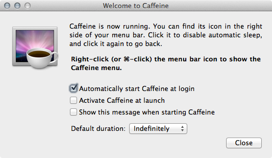 caffeine Screenshot