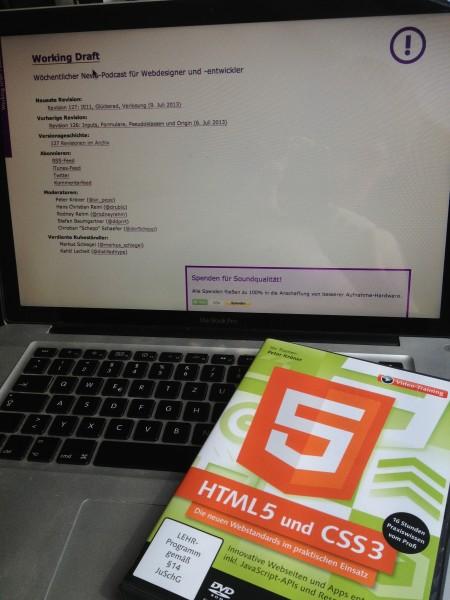 DVD: HTML5 und CSS3 Videoworkshop. Gewonnen bei workingdraft.de