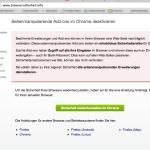 Browsersicherheit-info - Sicherheit herstellen - Startseite