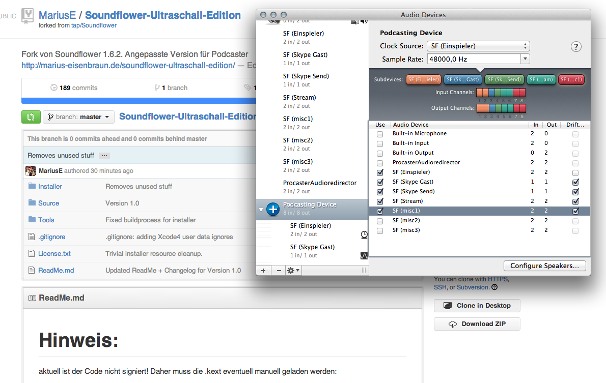 Screenshot - Soundflower Ultraschall Edition 1.0